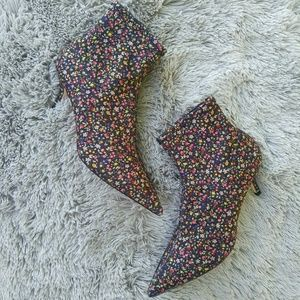 Zara | Printed High Heel Ankle Boots